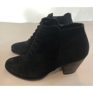 Free People Black Suede Booties Ankle Boots 39